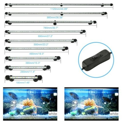 19-112cm LED Waterproof Lamp Fish Tank Submersible Light With Remote Controller