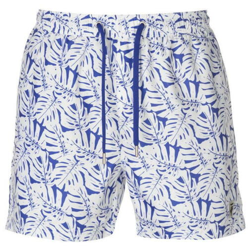 NUOVA linea uomo con marchio PIERRE CARDIN ELEGANTE shorts da bagno Costumi da bagno Tropicale Taglia S-XXL