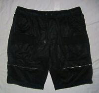 Mens Foot Locker Black Bl Belcher Shorts With Silver Zipper Pockets - 2xl