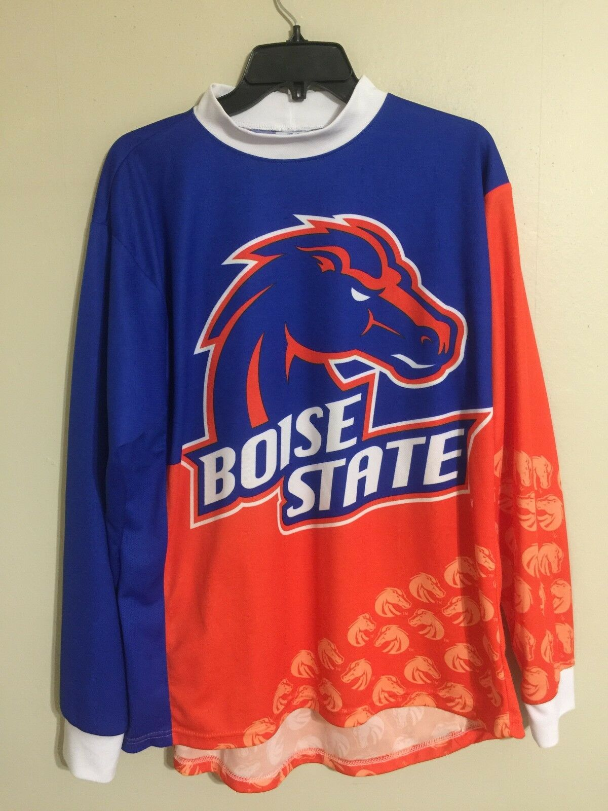 Boise State Broncos Adrenaline Promotions L S Mountain Biking Jersey  - Men's L  the best selection of