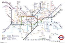 LONDON UNDERGROUND - WHITE MAP POSTER 24x36 - 34314