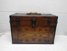 Very Unique Cabinet Machinist Tool Chest Box Vintage Wood Amp Metal 7 Drawers