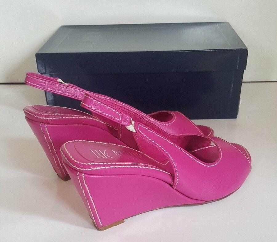 Luc full Berjen Pink full Luc leather wedges. Size 39 7d12c0