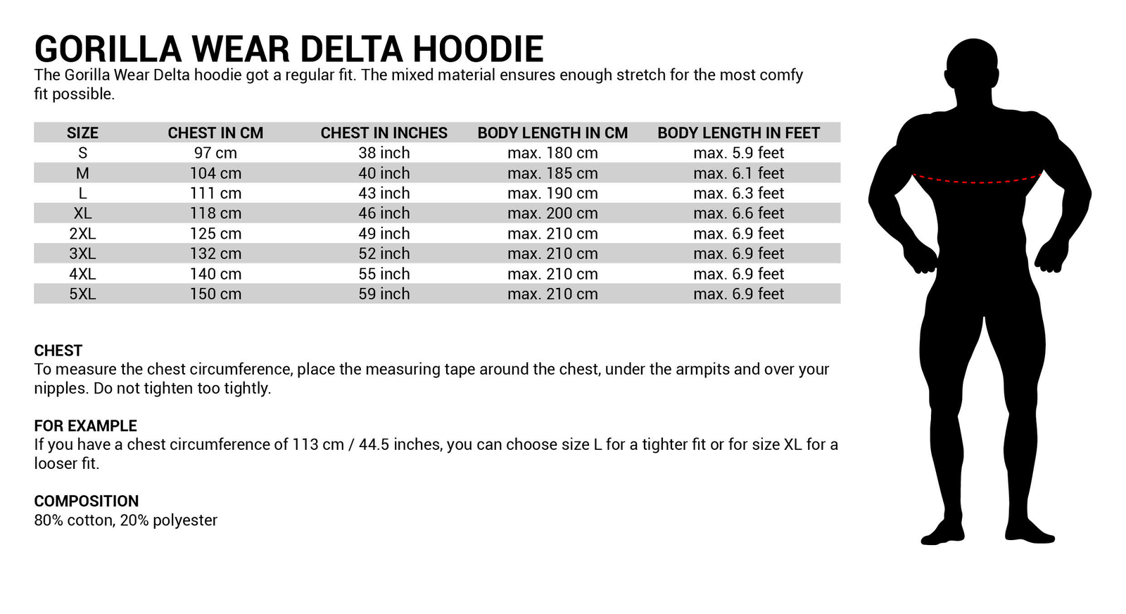 Gorilla Wear Delta Hoodie Hoodie Hoodie Bodybuilding Fitness a4b7d6