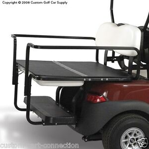 club car precedent golf cart deluxe safety aluminum flip rear seat kit ships fre ebay. Black Bedroom Furniture Sets. Home Design Ideas