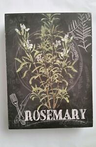 Details About Hobby Lobby Rosemary Rustic Wood Picture Sign Home Decor Wall Shelf Art Nwt
