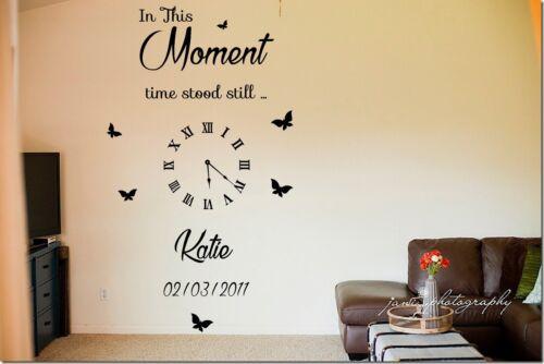 Personalizado de este momento tiempo estaba todavía Relojes Letras Vinilo Pegatinas De Pared