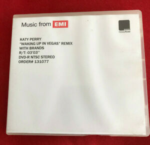 KATY PERRY Waking Up in Vegas remix w br UK promo dvd acetate ABBEY ROAD studios