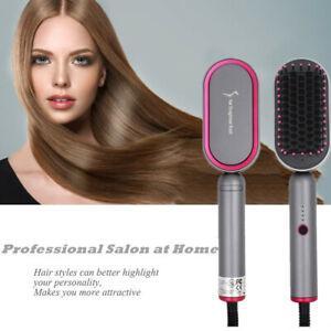 Professional-Hair-Straightener-Salon-Comb-Hair-Straightening-Iron-Anti-Scald-US