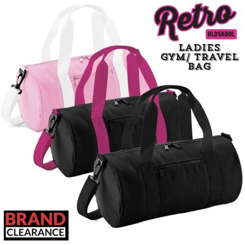 Rétro Mini BARIL gym ou travail sac de transport Noir Femme 3 couleurs