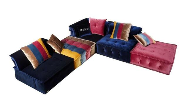 Ultra Modern Multicolor Fabric Modular Sectional Sofa Soflex Phoenix