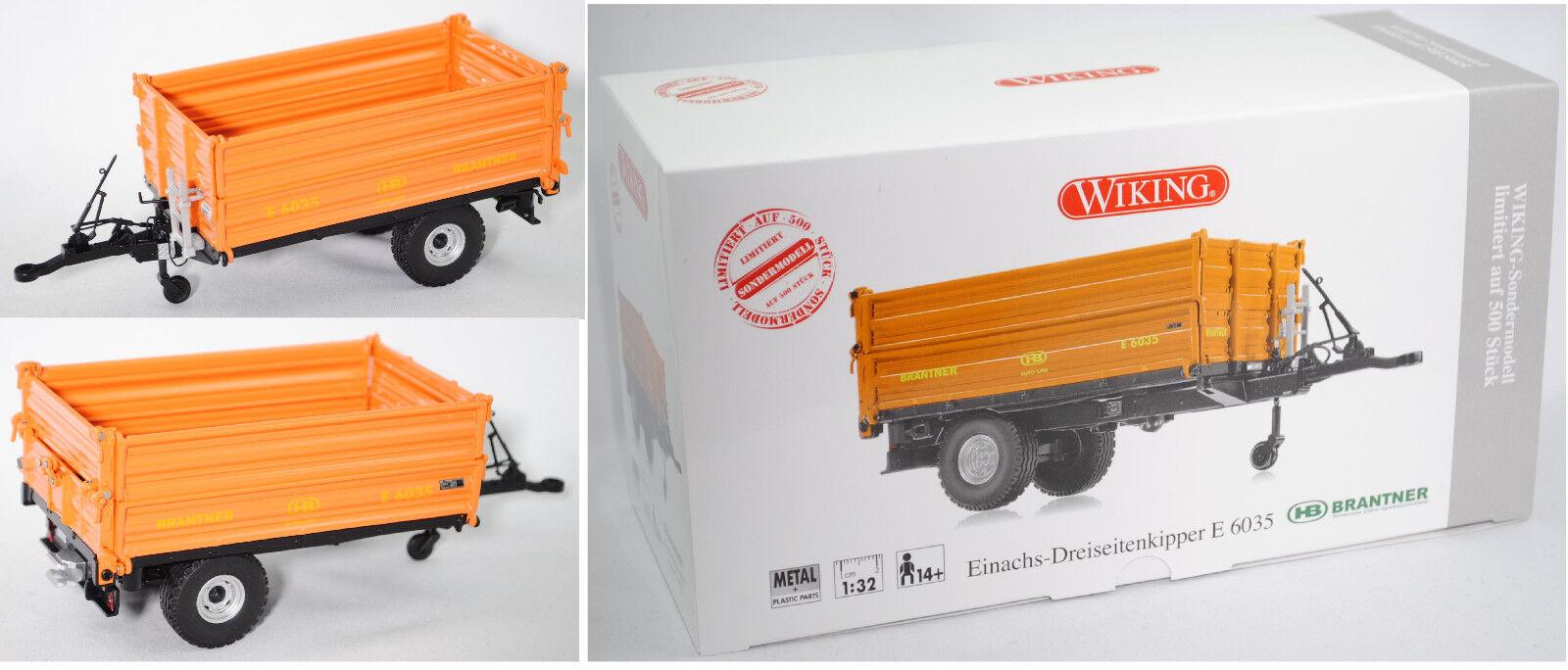 Wiking 877401 Brantner snotocukeurs-dreiseiten benne, 1 32, spécial modèle AGRITECHNICA