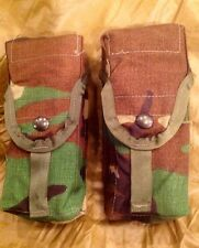 Lot of 2 New Molle Woodland Double Mag Ammo Pouches