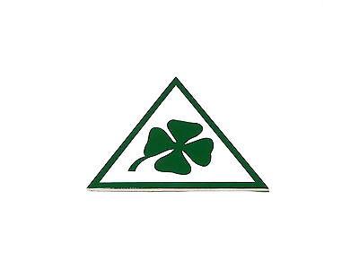 Fregio stemma ALFA ROMEO QUADRIFOGLIO VERDE 70mm green cloverleaf badge logo new