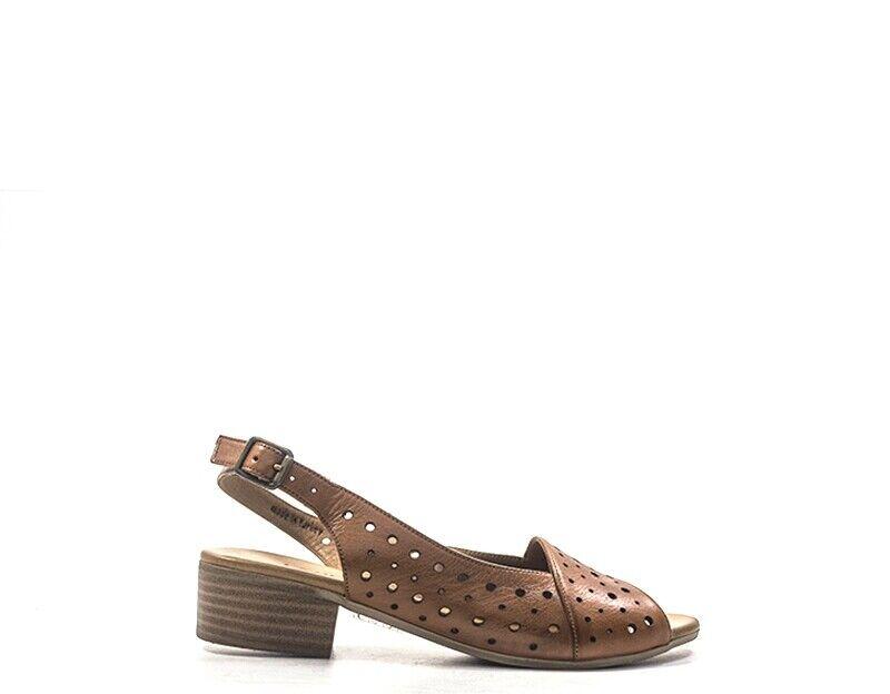 Chaussures EMIDI' femmes Sandali Bassi  marron Pelle naturale MYJ19167.CU.01