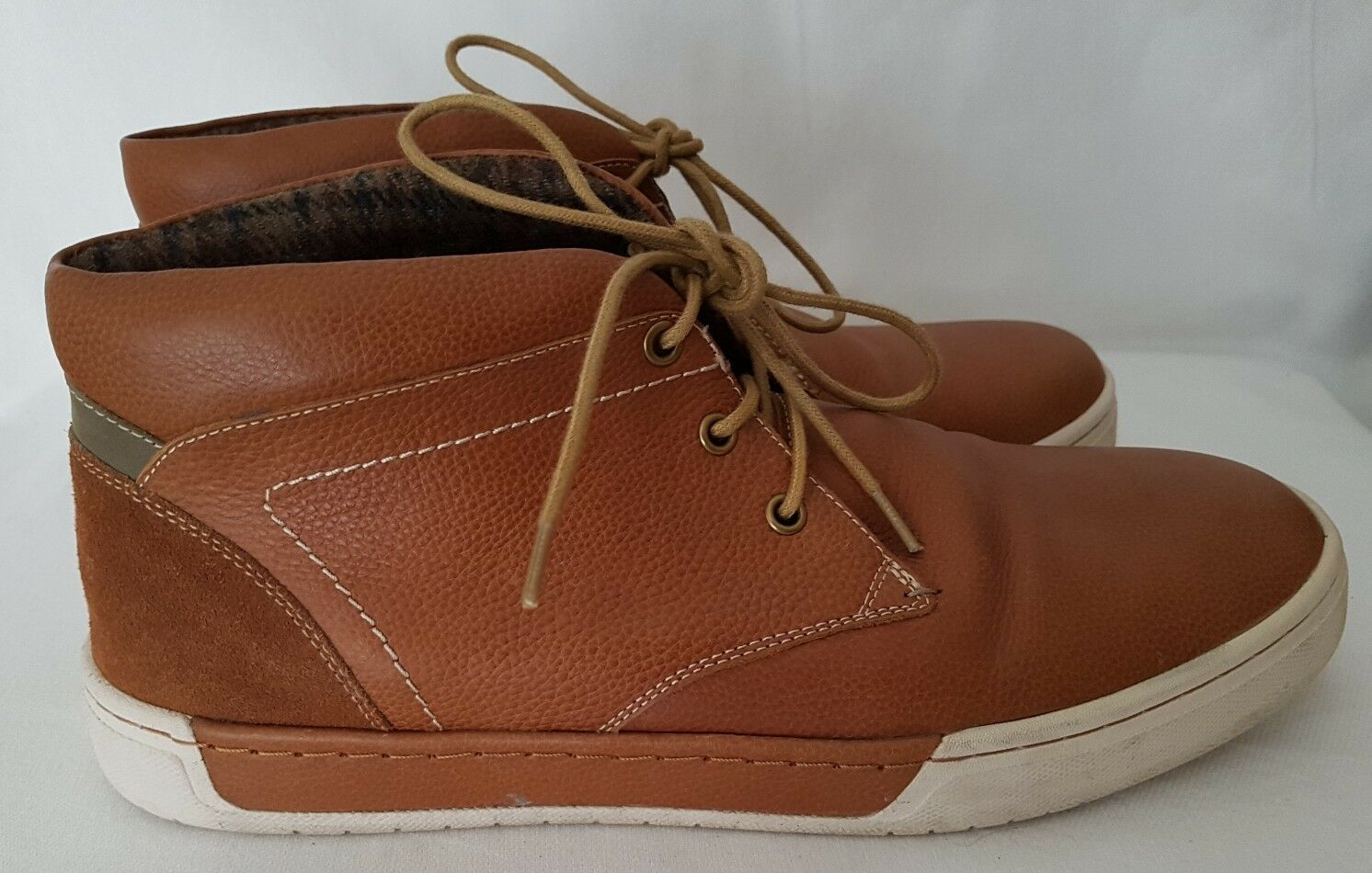 Jones Top Kriscross Mens Leather High Top Jones Trainers Ankle Boots UK 10 EUR 44  New 2eaa4d