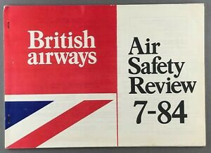 BRITISH AIRWAYS AIR SAFETY REVIEW JULY 1984 BA CONCORDE TRIDENT 1-11 748 TRISTAR