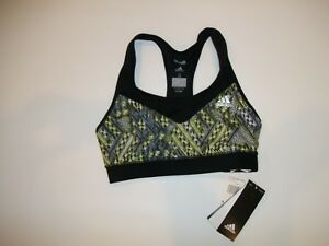 828b6bb45dc6a adidas TECHFIT Q4 ClimaLite UPF 50+ Racerback Sports BRA Womens Size ...