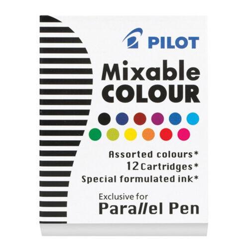 Pilot Mixable Colour IC-P3-AST 12-Color Parallel Pen Refills 12pcs per pack