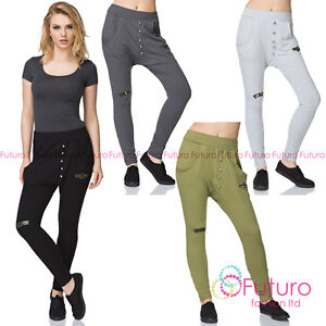 Unique-Women-039-s-Harem-Pants-Baggy-Joggers-with-Pockets-amp-Military-Stamps-FK1519