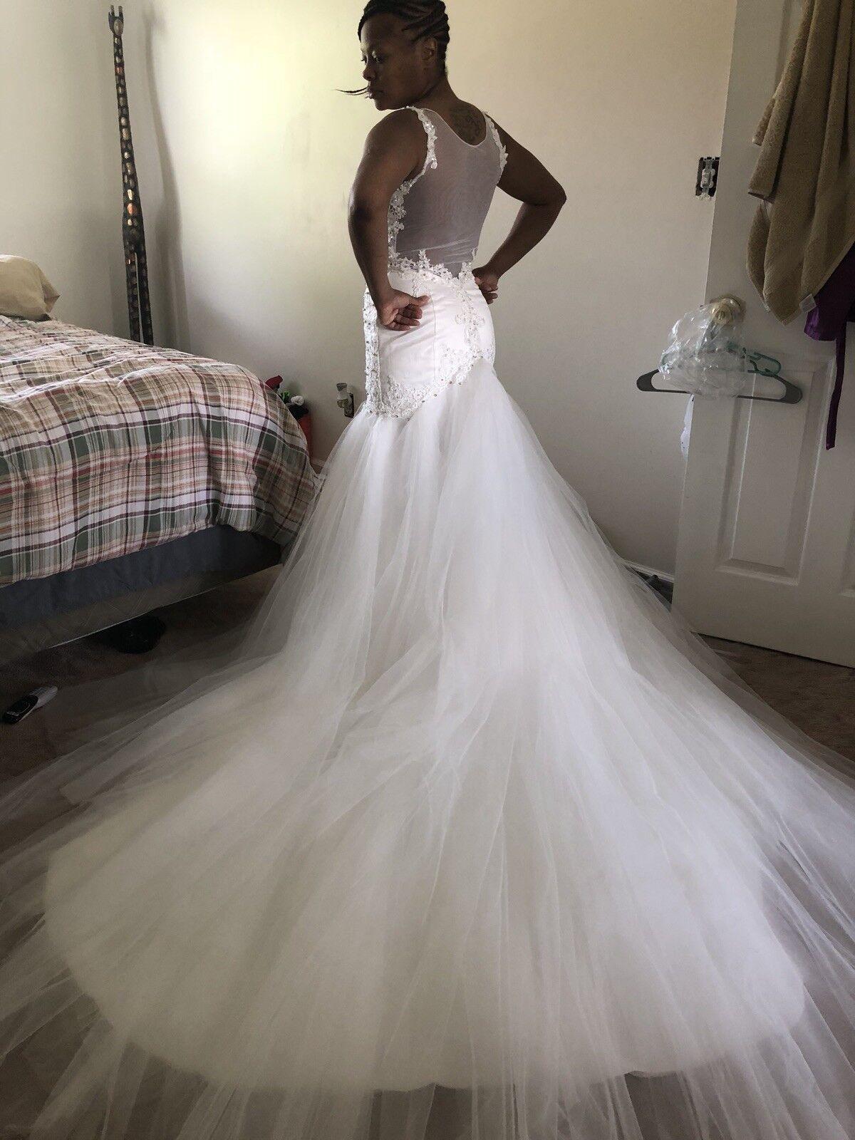 wedding dresses mermaid sleeveless