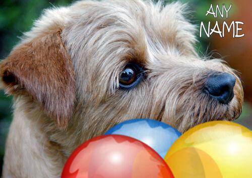Personnalisé de Norfolk Terrier Dog anniversaire fête des pères etc Carte illus Insert