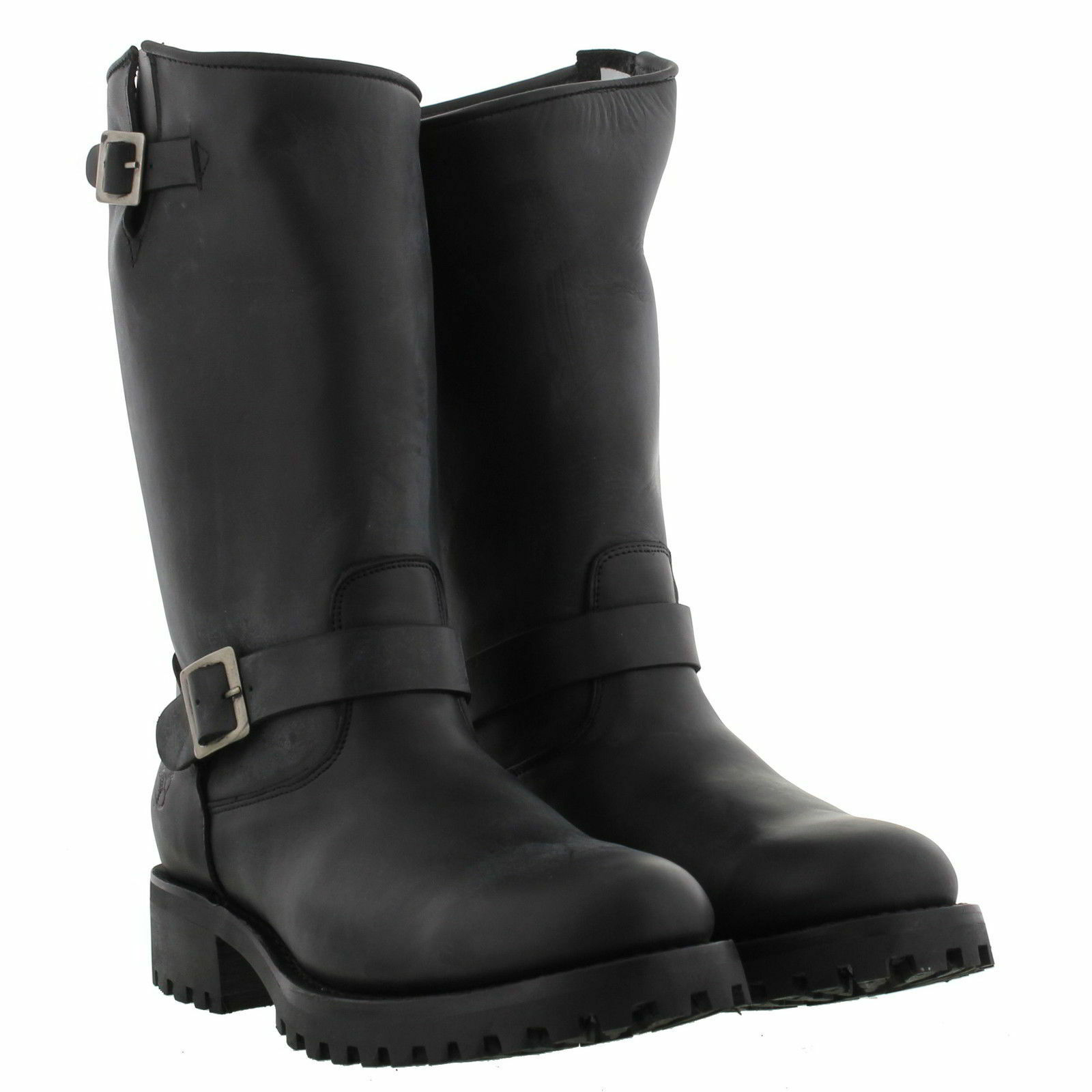 Grinders Wild One Mens Black Leather Biker Boots Sizes Sizes Boots New 27774e