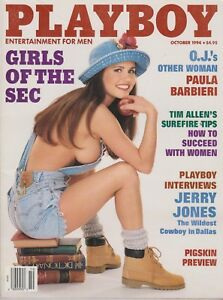Image Is Loading Playboy October 1994 C Victoria Zdrok Paula Barbieri