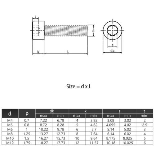 Innensechskant Zylinderkopf Linksgewinde Schrauben M6 M8 M10 M12 Edelstahl A2