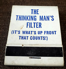 """Matchbook """"The Thinking Man's Filter (It's what's up front that counts!) Condom"""