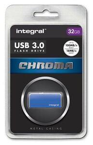 INTEGRAL-32gb-CROMA-USB-3-0-Sin-Tapon-Flash-Drive-In-Azul-infd32gbchr3-0bl
