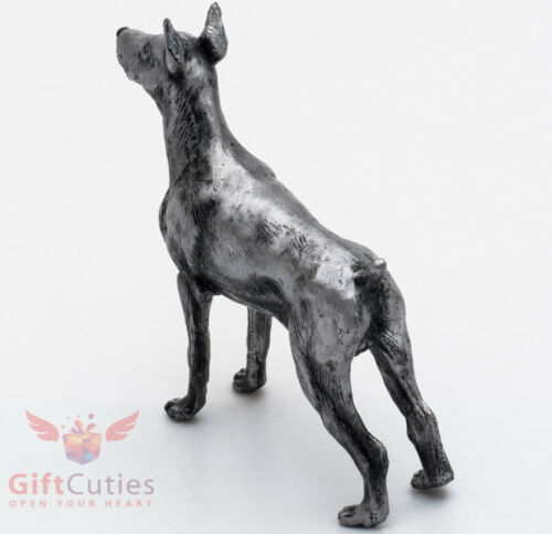 Tin Pewter Figurine of Doberman Pinscher Dog IronWork