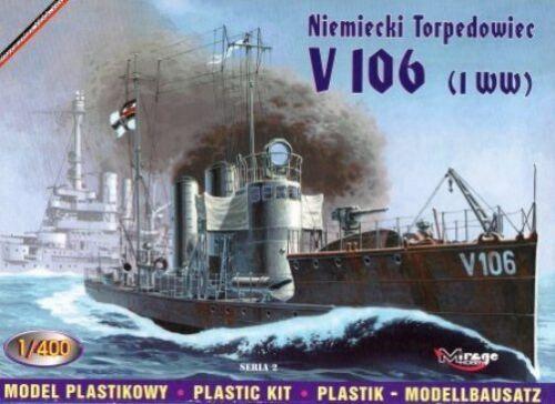 1//400 MIRAGE KAISERLICHE MARINE MARKINGS GERMAN TORPEDO BOAT V 106