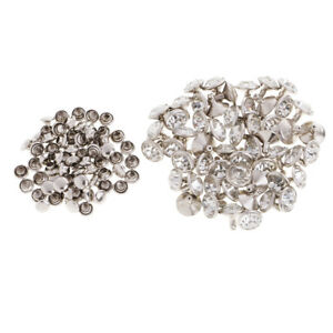 32bd6b1acbc Image is loading 50pcs-Rhinestone-Rivets-Studs-Buttons-for-Bag-Clothes-