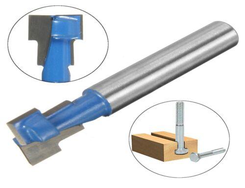 3//8/'/' x 1//4/'/' Shank T-Slot Cutter Woodworking Router Bit Steel Handle Milling
