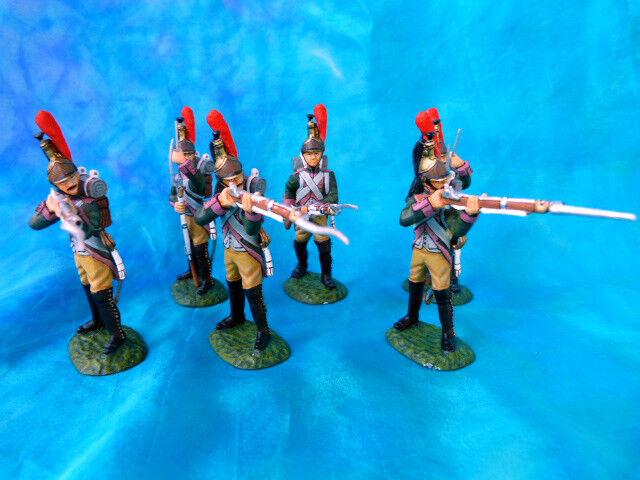 Frontline - premier empire - 6 dragons à pied de la garde au combat (lot 1)