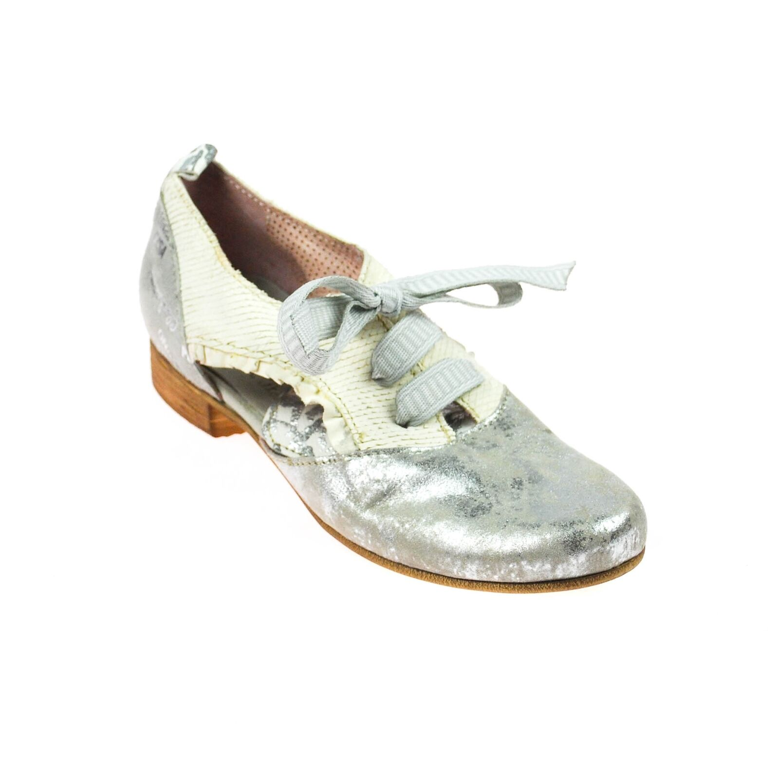 Charme femmes chaussures Basses ouverte cuir blanc gris argenté multiCouleure Taille 37