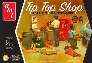 AMT-Garage-Accessory-Set-2-Tip-Top-Shop-1-25-scale-model-kit-new-16