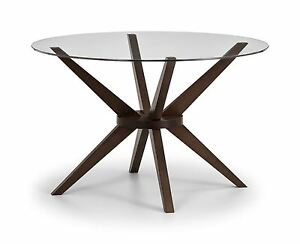 Image Is Loading Julian Bowen Chelsea Round Dining Table Only Glass