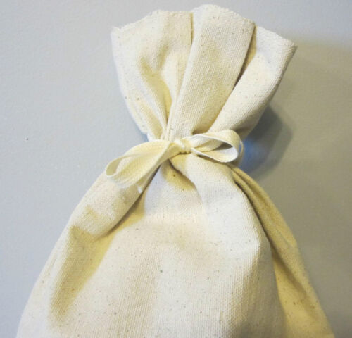 """3 CANVAS COIN BANK DEPOSIT BAG WITH SEWN-ON TIES 9/"""" BY 17.5/"""" MONEY SACKS BAGS"""