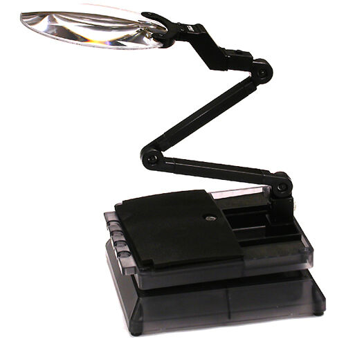Integy C23474 Universal Workstation Car Stand w LED Light & Magnifying Len