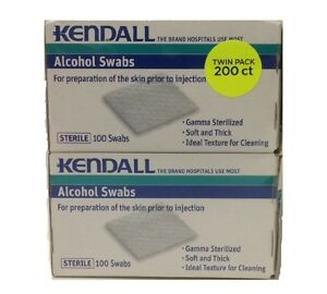 Twin Pack-Kendall Alcohol Swabs-200 Swabs total