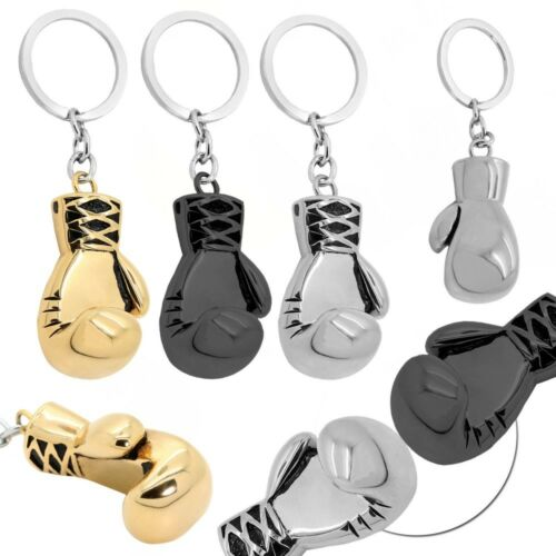 1 Anhänger Boxhandschuh Schlüsselanhänger Schlüsselring Boxen Edelstahl Keyring