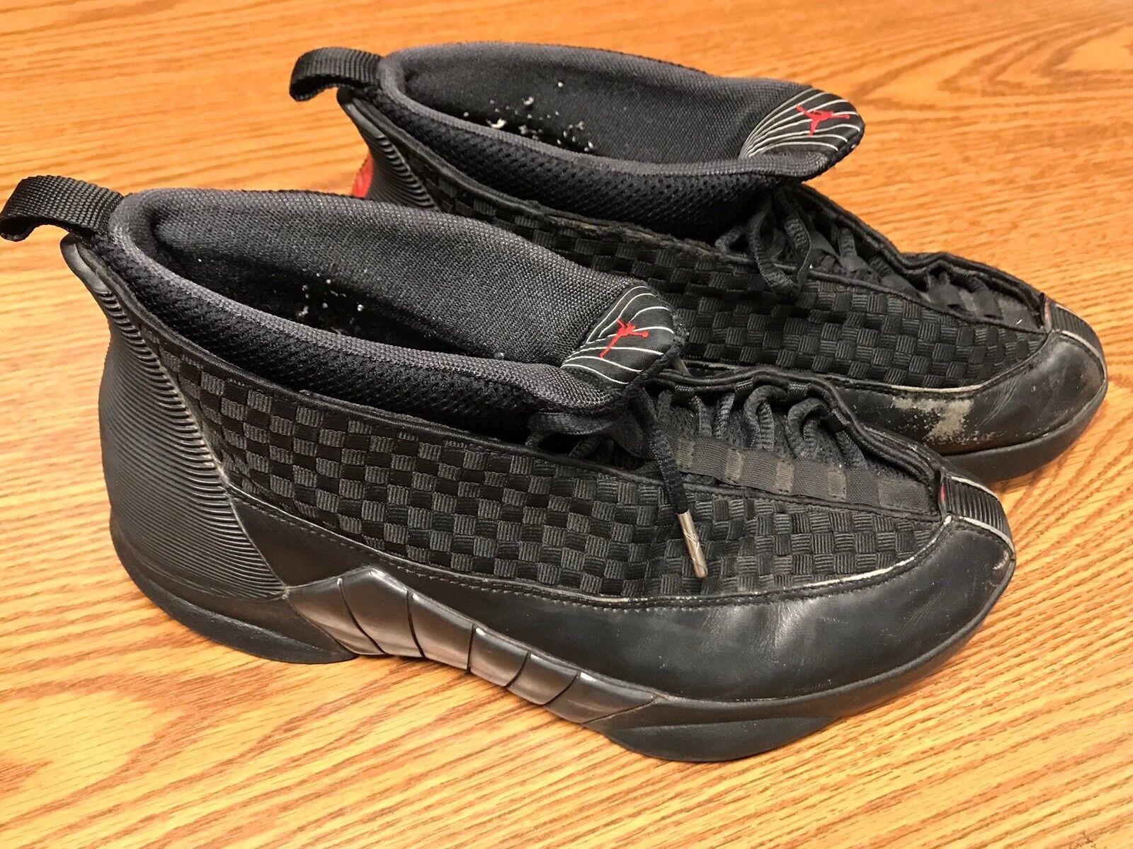 Nike 136029-061 Air Jordan XV 15 Men's Black Stealth Varsity Red Shoes Sz 10.5 Cheap women's shoes women's shoes