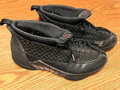 wholesale dealer 430f4 3af5a Nike 136029-061 Air Jordan XV 15 Men s Black Stealth Varsity Red Shoes Sz  10.5