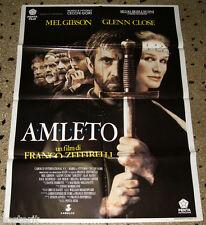 manifesto 2F originale HAMLET - AMLETO Zeffirelli Mel Gibson Glenn Close 1991