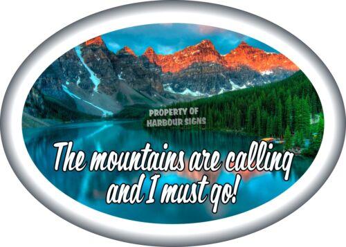 "Mountain Scene RV Contour Cut Vinyl Decal 12/"" for Travel Trailer Truck Boat"