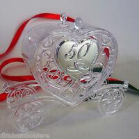 Bomboniere confettate scatolina carrozza cuore per 50 anniversario nozze d'oro