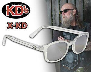 Original X-KD's Chill Biker Chopper Sonnebrille silber verspiegelte Gläser NEU