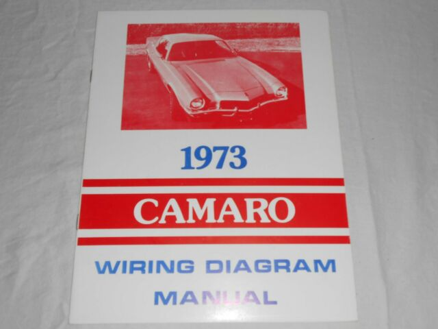1973 Camaro Wiring Diagram Manual 1973 For Sale Online